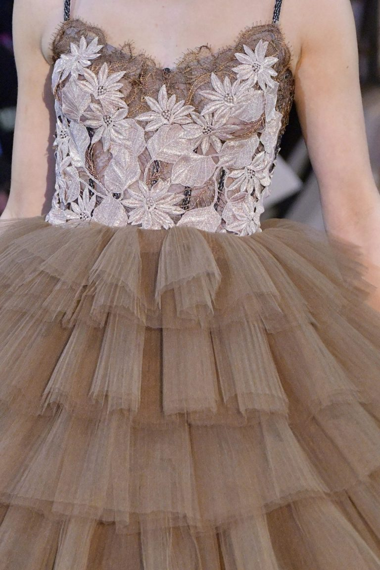 princess tulle brown evening dress yolancris