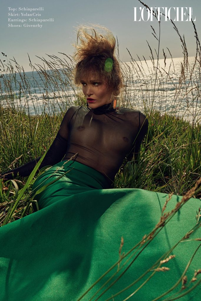 l'officiel green mermaid dress