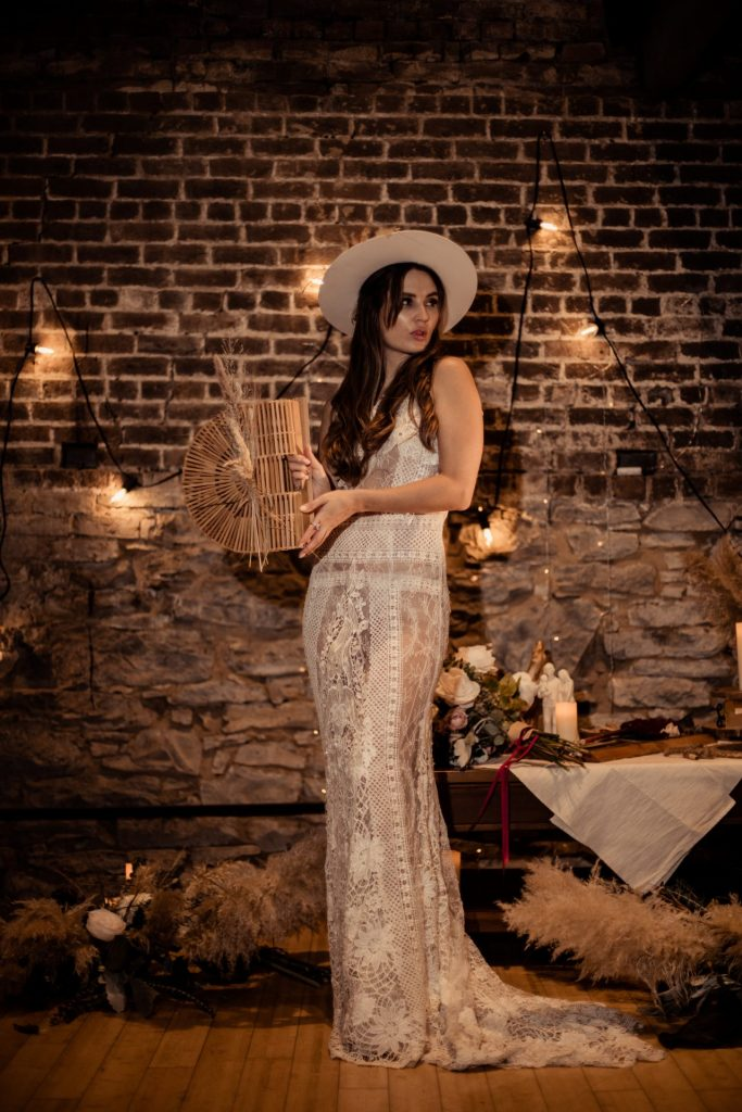 real bride boho style wedding